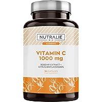 Vitamine C 1000 mg Concentré Pure Végétalien par dose (2/j)   Fatigue, Système Immunitaire et Antioxydant avec Églantier…