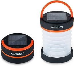 Suaoki Solar LED Campinglampe faltbar Camping Zelt Laterne mit 3 Leuchtfunktionen f¨¹r Camping, Zelt Outdoor