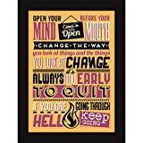 Posters With Frames For Wall And Table Décor - 4 Wise Quotes For Inspiration And Motivation