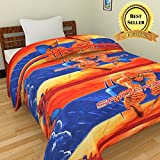 TRUSTFUL Spiderman Cartoon Kids Design Print Single Bed Reversible AC Blanket | Dohar | Quilt | Comforter | Duvet (Polycotton, Multicolor)