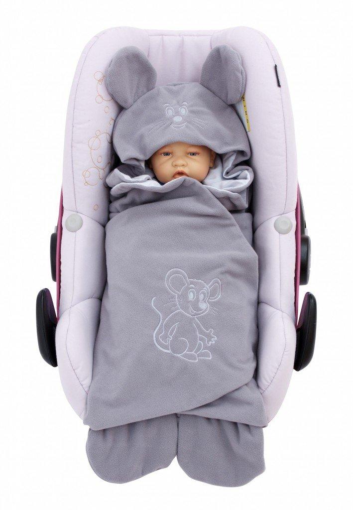 ByBoom® – Manta para envolver al bebé para el período de transición y el verano, para el asiento del bebé en el coche, asiento del Auto, por ejemplo, Maxi-Cosi, Römer, para Buggy, cochecito o cuna