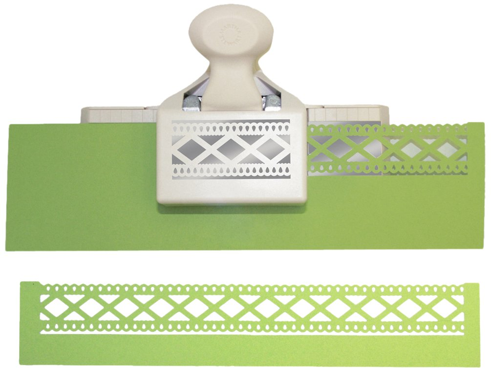 "6101iYbGBjL - Martha Stewart Double Edge Punch-Diamond Fence, 1.25""X2.5"""
