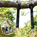Tree Swing Straps Hanging Kit Waterproof (2 Pack), 150cm(5 FT) Long with 2 Safety Sturdy Zinc Alloy Lock Carabiners Hooks and 1 Carrying Bag, Holds 2200 LBs(1000 KG), For Tire, Disc Swings, Hammocks