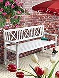 Sedex Gartenbank 4 sitzer Parkbank aus Eukalyptusholz FSC® 100% weiß