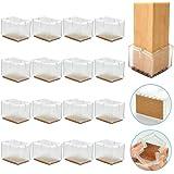 RMENOOR 16 Pcs Tapones para Patas de Sillas Patas de Silla de Silicona Antideslizantes Almohadillas para Muebles Tapones para