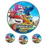 Tortenaufleger Geburtstag Tortenbild Zuckerbild Oblate Motiv: Super Wings 02 (Zuckerpapier)