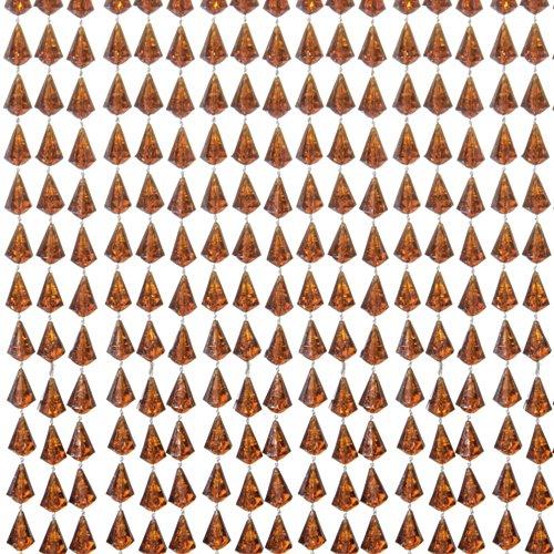 VERDELOOK Goccia, Tenda in plastica Antiurto, Dimensioni 120x240 cm, Colore Cognac, 96 Fili