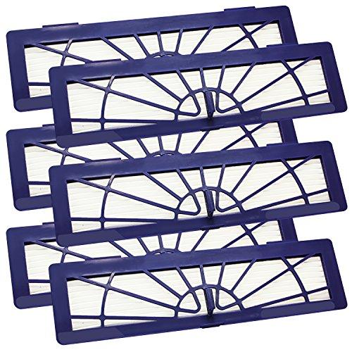 6 Stück XL Mikro High Performance Hochleistungs Hepa Filter Violett ohne Soft-Entriegleung für alle Neato Botvac Typen 70, 70E, 75, 75E, 85, 85E, BotVac Serie , BotVac D Serie, BotVac Connected von SchwabMarken
