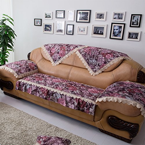 Kurze Plüschsofa Handtuch/European Style Sofa Pad/Stoff Anti-rutsch-sofa Handtuch/Sofa Setzt/Sofa-handtuch/Verdicktes Sofa Handtuch-B 110x210cm(43x83inch)