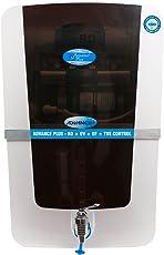 Aquatec plus Advance Plus 12L RO+UV+UF+TDS Water Purifier (White and Black)