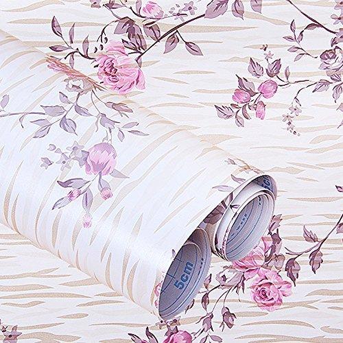 Sunfire selbstklebend Regal Schublade Liner herausnehmbarer Kontakt Papier Streifen Peony 43,2x 198,1cm - Regal Schubladen Streifen