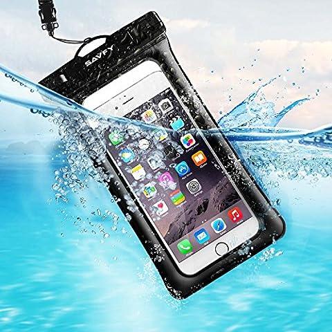 Pochette Étanche Smartphone 7'' Certifiée IPX8, SAVFY Housse Téléphone Waterproof