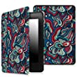 Fintie SmartShell Case for Kindle Paperwhite - The Thinnest and Lightest Cover With Auto Sleep / Wake for All-New Amazon Kindle Paperwhite (Fits All 2012, 2013, 2015 and 2016 Versions), Mushroom Fantasy