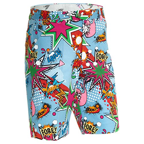 Loudmouth Golf Shorts (Royal und Awesome Herren Shorts ROYAL und Awesome Herren Golf Shorts - Partoon, Partoon, 36