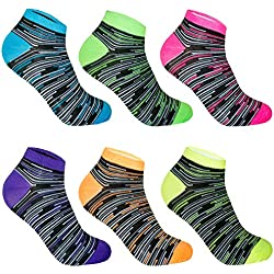 L&K Pack de 12 Calcetines Sneaker Cortos de deporte para Mujer Blanco 92220 Multicolor 35/38