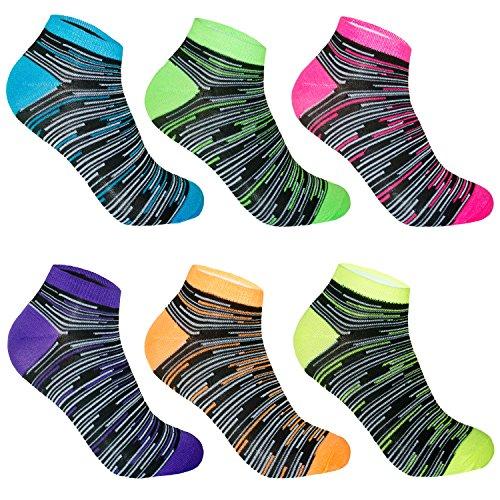 12 Paar L&K-II Damen Sneaker Socken Füßlinge