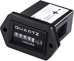 Qiorange Digital Betriebsstundenzähler Stundenzähler Zeitzähler Traktor Boot 12v 36v Dc Baumarkt