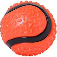BLACK DOG Big Hard Squeeze Rubber Durable Ball (4.5 Inch) for Adult Dogs