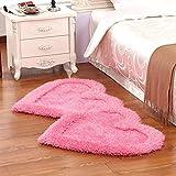 DHG Mats-Stretch Seidenteppich Add Thick Bedroom Tee Ein Paar idyllische Mode, Um rutschigen Haushalt zu verhindern,Ein,80X160Cm (31X63Inch)