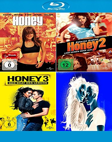 Honey 1-3 (BLU-RAY 1/2 + 3) - alle 3 Filme im Set - Deutsche Originalware [3 Blu-rays]