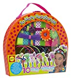 ALEX TOYS-So Many Headbands Kit. Make fun and fashionable headbands that are uniquely you! This kit contains eight satin headbands; two stretchy headbands; five ribbons; eight fabric flowers; rainbow shoelace (30 inches); slide-on gem stem; t...