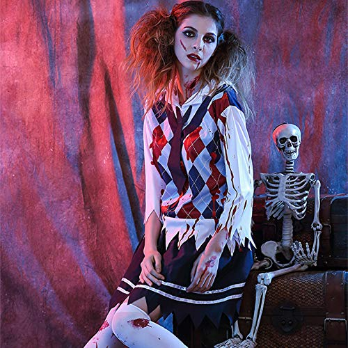 WYPANCMädchen gruselig Zombie Kostüm Halloween Cosplay beängstigend (Kostüm Mädchen Beängstigend)