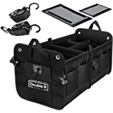 Double R Bags Multi Compartments Collapsible Portable Car Accessories for Trunk Dicky Boot Organizer Storage for Garage…