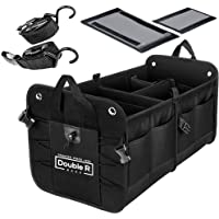 DOUBLE R BAGS Multi Compartments Collapsible Portable car Accessories for Trunk Dicky Organizer for Garage, SUV, Cars…