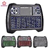 Marcherry Mini tastiera Wireless, Tastiera retroilluminata da 2,4 GHz a 3 colori con Mouse touchpad,Telecomando USB per Smart TV, Xbox, TV Box Android, Proiettore, PC portatile da tavolo IPSTB