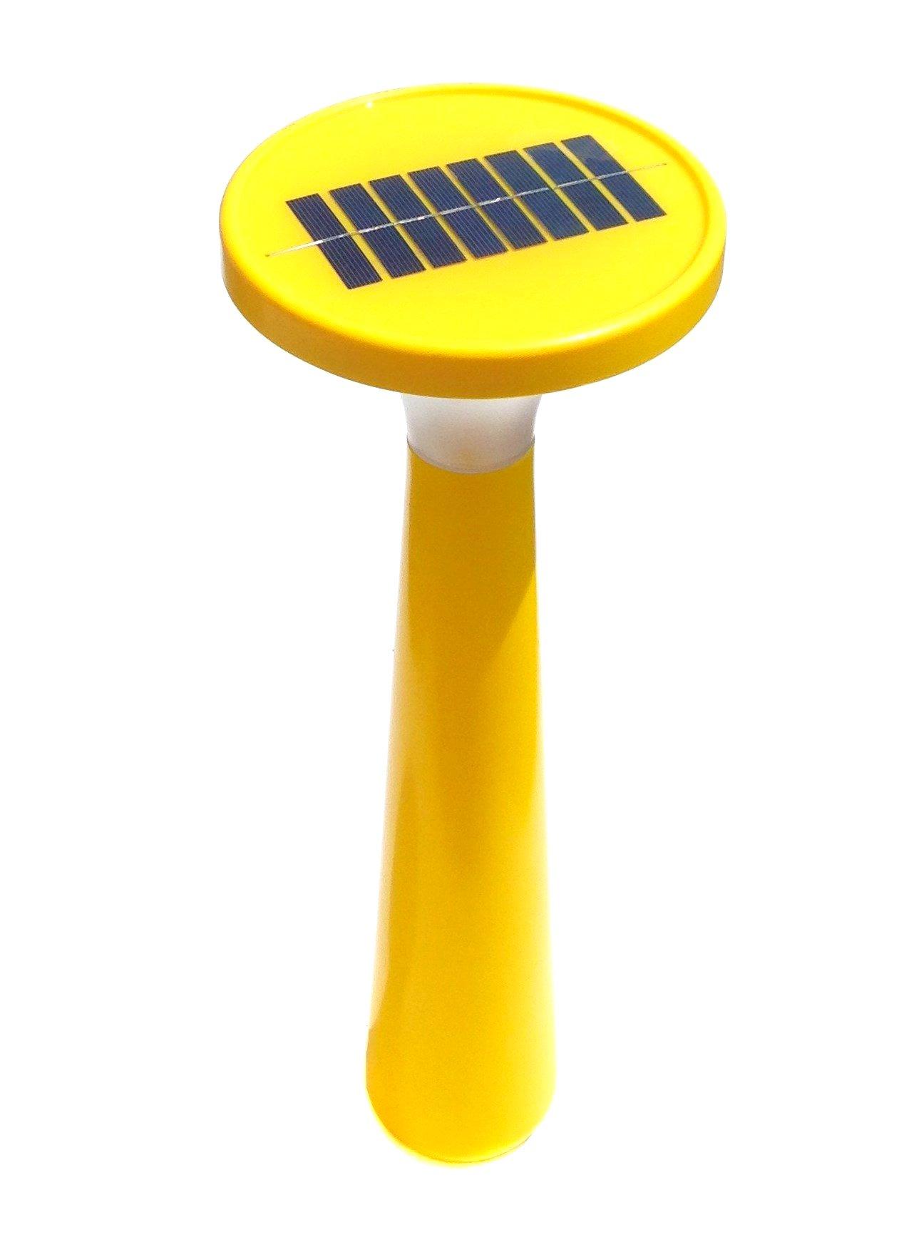 Outlook Design V6P0300059 Aton Large Lampada da Giardino a Carica Solare, Gialla, Accensione e speg