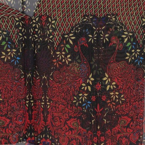 Damen Baumwolle und Spitzenbluse Strand Bikini Badeanzug Strand Kittel Rot