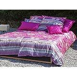 Bassetti Granfoulard.- Colcha copriletto Loto V8 rosa para cama de 150, en medida 240 x 255 cm
