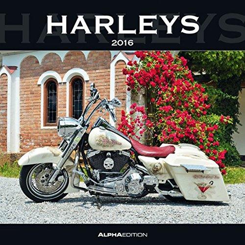 Preisvergleich Produktbild Harleys 2016 - Broschürenkalender (30 x 60 geöffnet) - Motorradkalender - Fahrzeuge - Wandplaner