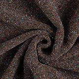 Fabulous Fabrics Walkstrick Wolle - braun - Meterware ab