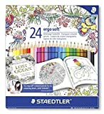 Staedtler 157 C24JB - Buntstifte ergosoft Set 24 farben, Exklusive Johanna Basford Edition