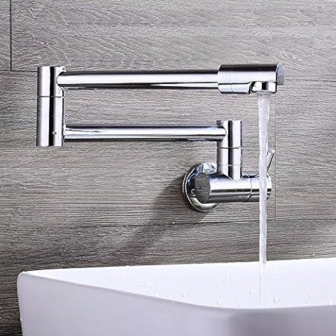 Dissipatore contemporaneo BathStainless acciaio privo di piombo alluminio FaucetSpace rubinetto di cucina