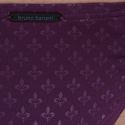 bruno banani Herren String Limitless Violett (Aubergine Print 2374)