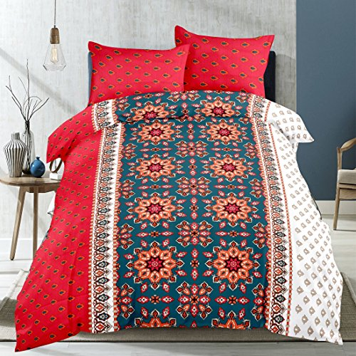 HOME ELITE Cotton Double Bedsheet with 2 Pillow Covers , Multicolor