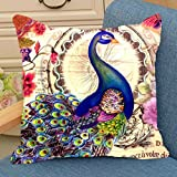 #7: Aart Cute Bird Decorated printed Cushion Cover 16x16 by Aart Store