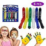 Philonext Gesicht Malen Buntstifte, Kinderschminke Set, ungiftig Körperbemalung Körper Tattoo Buntstifte Kit für Kinder, Kleinkinder, Schminkstifte Bodypaint Körpermalfarben Tattoo für Kinder