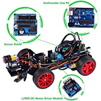 SunFounder Robotics Model Arduino Car kit Electronics DIY Smart Toys