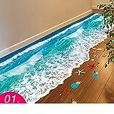 3d wandsticker,Wasserfeste aufkleber fliesen bad bodensticker badezimmer boden selbstklebende dekorative wand-aufkleber tapete-A 68x55cm(27x22inch)