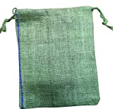 Jute/Hessian Drawstring Bags, choice of 6 sizes, PLEASE NOTE THESE ARE 'SECONDS' SOME HAVE A PURPLE THREAD IN THE JUTE (40cm x 50cm)