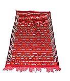 Authentique marocain Fait à la main Tapis Kilim 100% laine tissé main–Rouge et Orange–1.52x 0.77m