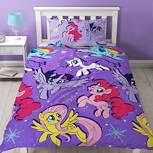 My Little Pony MOVIE Repeat Print Design Adventure Duvet Set, Multi-Colour, Single