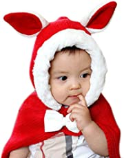 Chinatera Baby Boy's Fall Knit Wool Warm Cloak Rabbit Ears Hooded Shawl Wraps