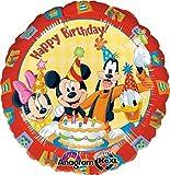 Micky Maus zum Geburtstag Folienballon, unbefüllt