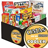 Omas sind wie Mamas nur cooler | Süßigkeiten Geschenkkorb | Geschenkkorb | Omas sind wie Mamas nur cooler | Ostalgie Box | mit Zetti Cocosflocken, Viba und mehr | GRATIS DDR Kochbuch