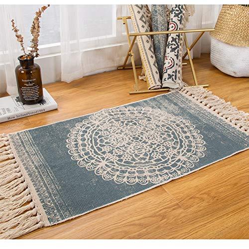 Sumshy Alfombra etnica Bohemia algodón y Ropa Alfombra Sala alfombras de habitacion...