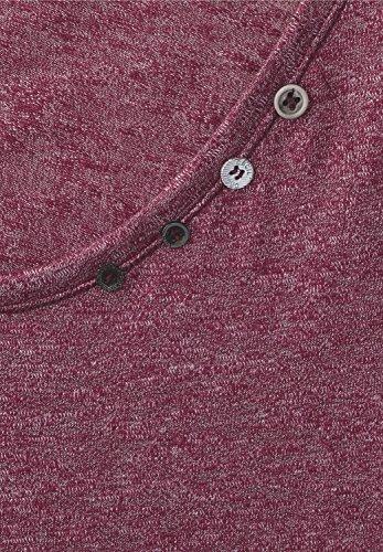CECIL Damen Melange Rundhalsshirt Leona deep pink melange (pink)